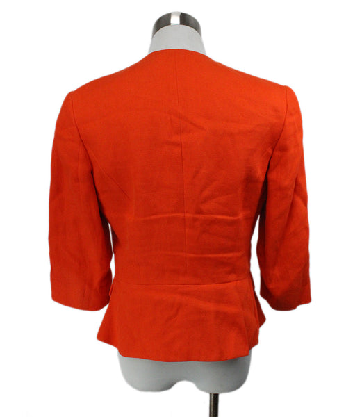 Ralph Lauren Orange Linen Jacket 3