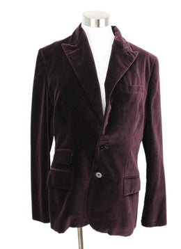 Ralph Lauren Purple Velvet Plum Jacket 1