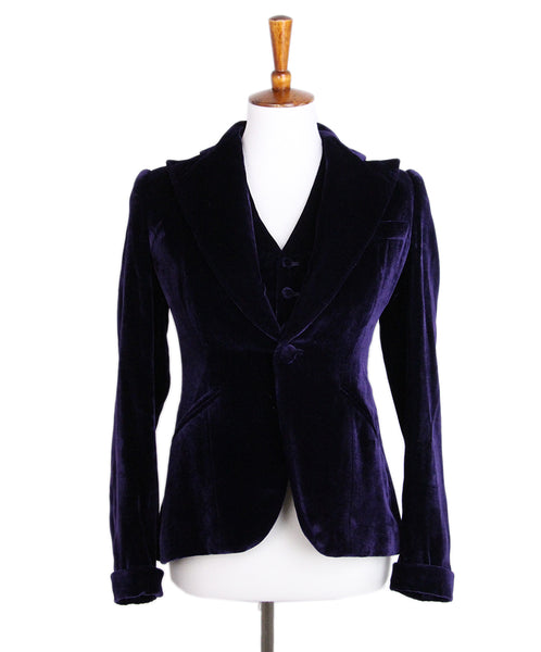Ralph Lauren Purple Velvet Jacket and Vest Set 1