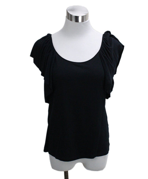 Ralph Lauren Black Cotton Spandex Top