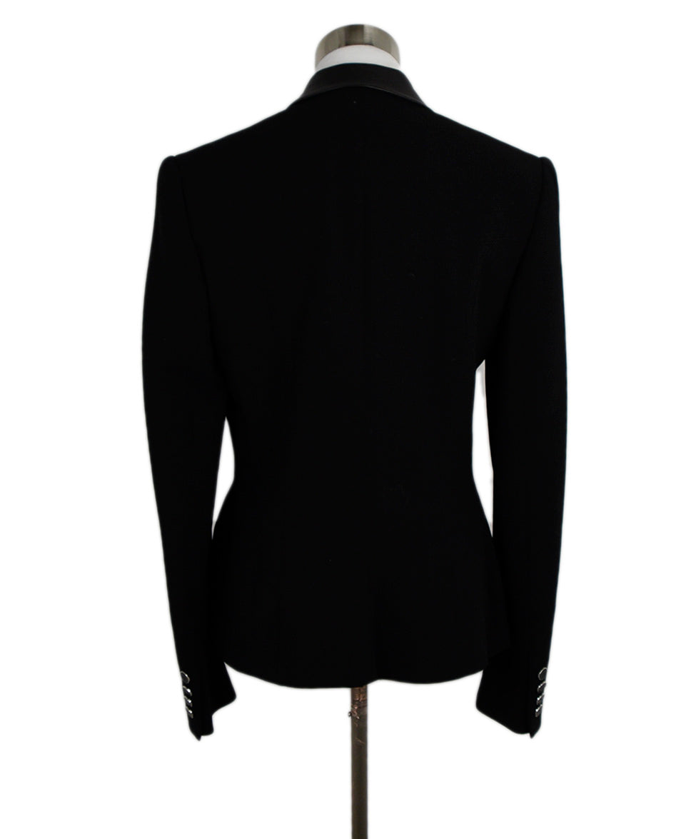 Ralph Lauren Black Wool Leather Jacket 3