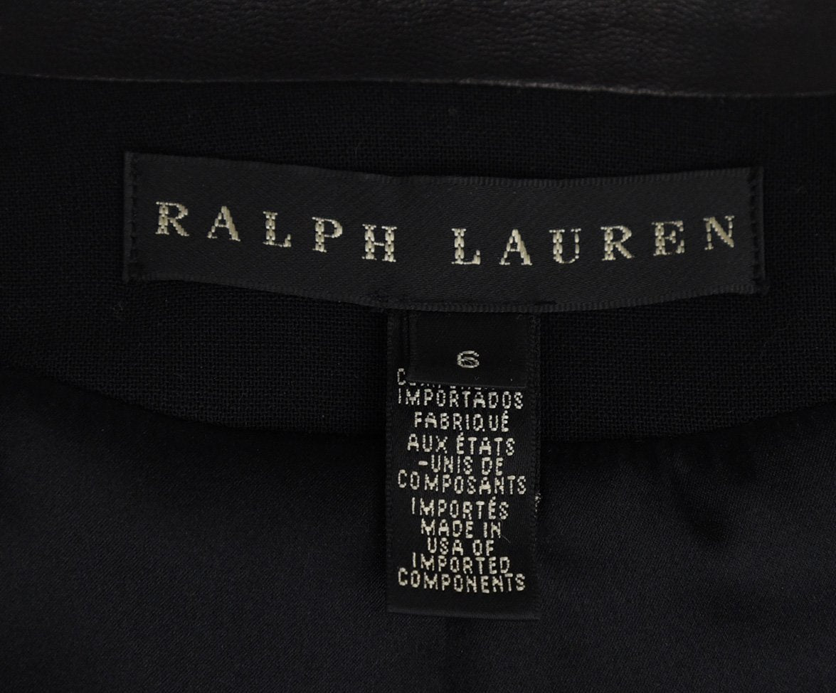 Ralph Lauren Black Wool Leather Jacket 4