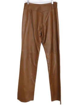 Ralph Lauren Brown Cognac Leather Pants 2