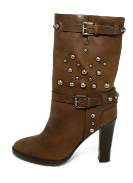 Ralph Lauren Brown Leather Silver Studs Boots 2
