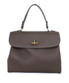 Ralph Lauren Brown Olive Leather Satchel Handbag 1