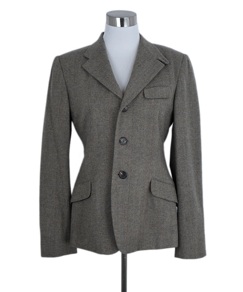Ralph Lauren Brown Taupe Wool Cashmere Jacket 1