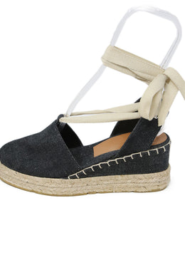 Ralph Lauren Dark Denim Espadrilles Shoes 2