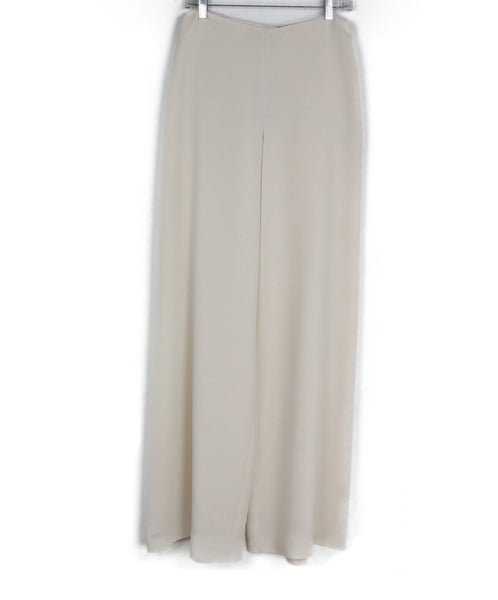 Ralph Lauren Ivory Silk Pants 1
