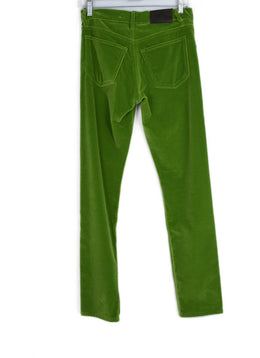 Ralph Lauren Lime Velvet Pants 2