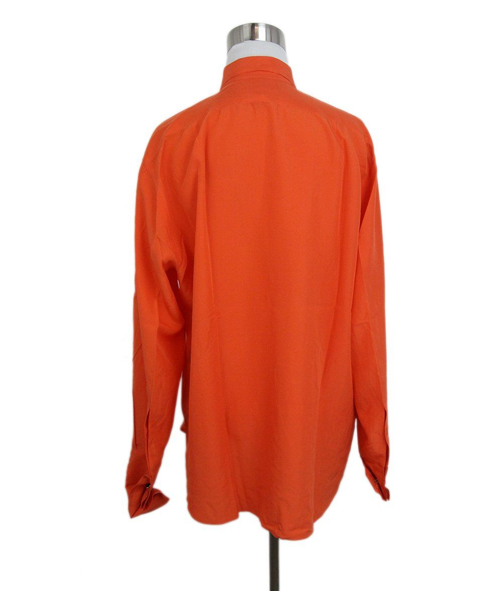 Ralph Lauren orange silk top 3