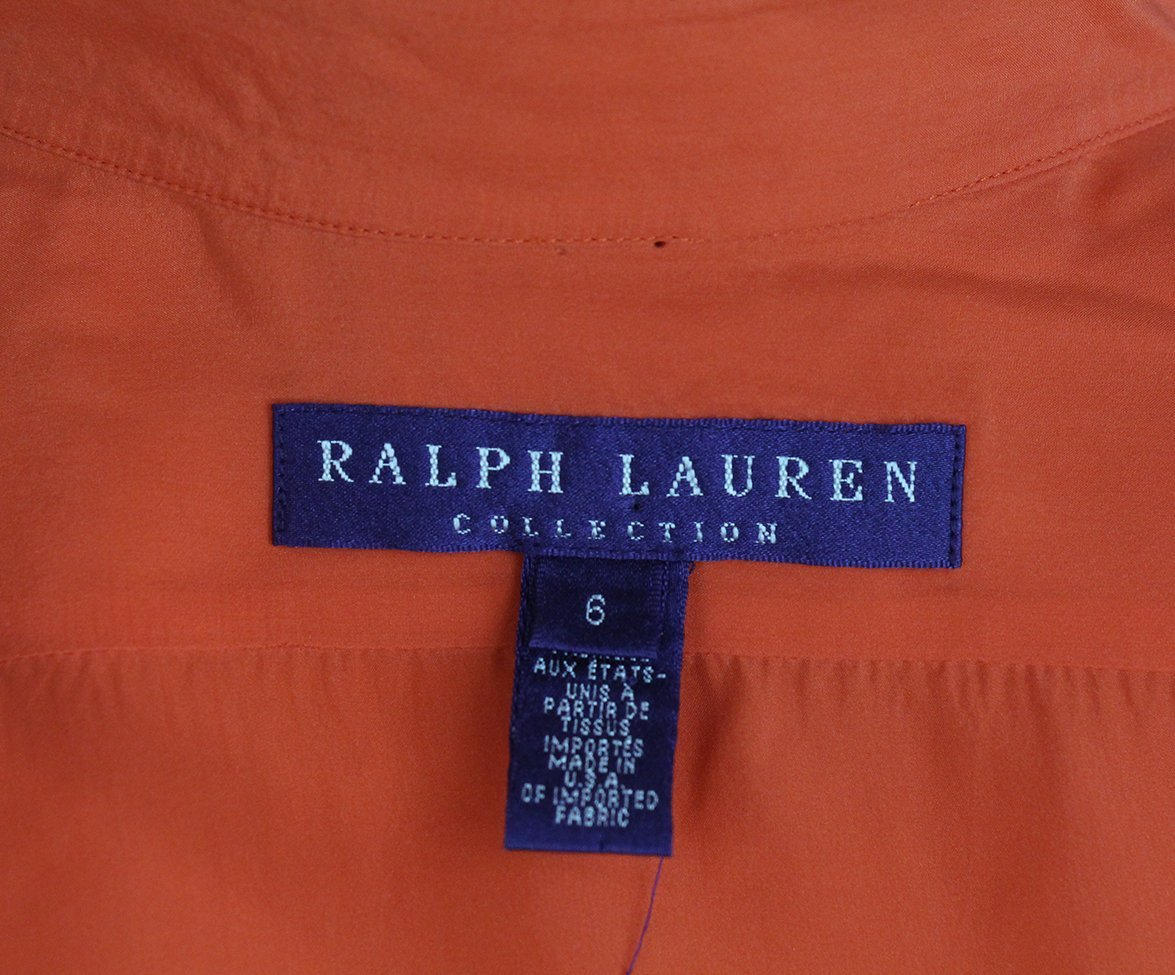 Ralph Lauren orange silk top 4