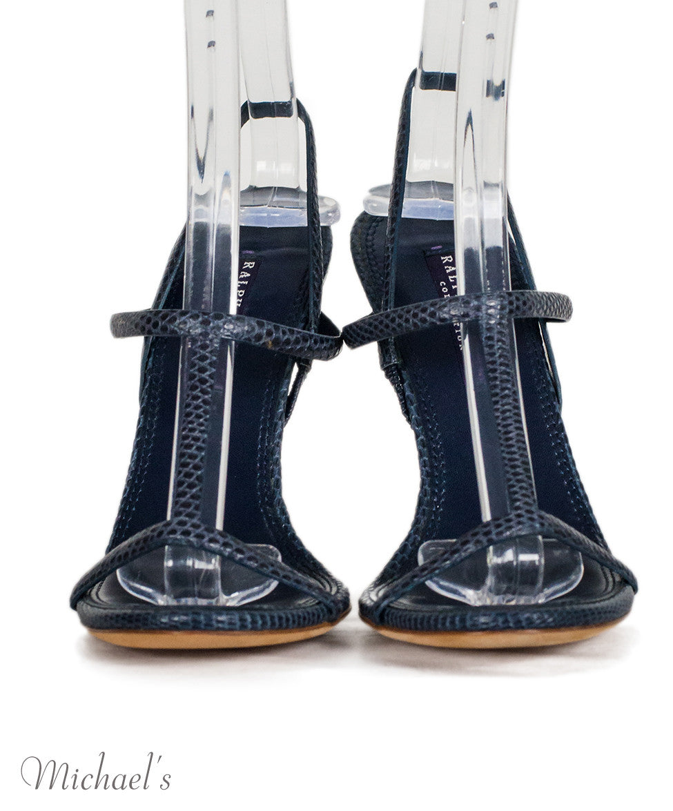 Ralph Lauren Navy Skin T-Strap Sandals 6.5 - Michael's Consignment NYC  - 3