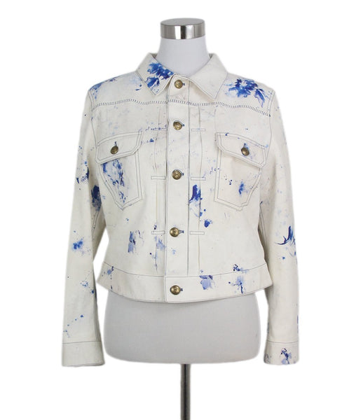 Ralph Lauren white blue leather jacket 1