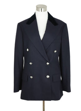 Ralph Lauren Navy Wool Velvet Collar Jacket 1