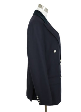 Ralph Lauren Navy Wool Velvet Collar Jacket 2