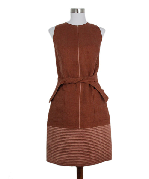 Ralph Rucci Brown Linen Dress 1