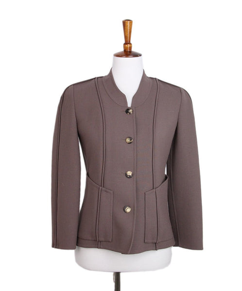 Ralph Rucci Brown Mocha Wool Jacket 1