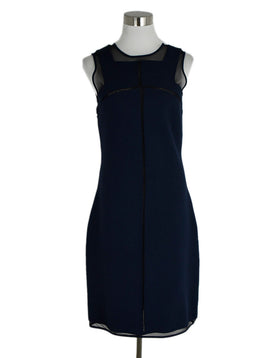 Ralph Rucci Navy Mesh Cut Out Dress sz. 6 | Ralph Rucci