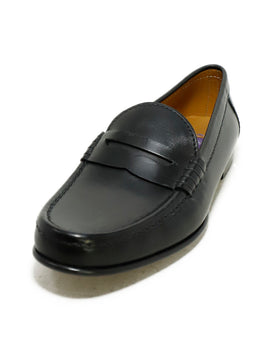 Ralph Lauren Black Leather Shoes Loafers 1