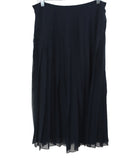Ralph Lauren Navy Silk Pleated Skirt 2