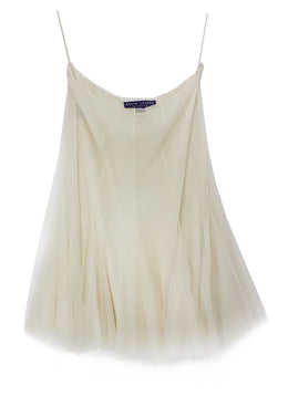 Ralph Lauren Cream Taupe Tulle Cotton Skirt 1