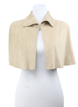 Ralph Lauren Neutral Beige Suede Cape 1