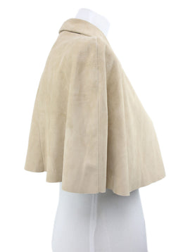 Ralph Lauren Neutral Beige Suede Cape 2