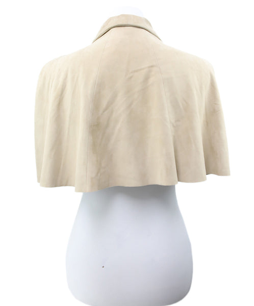 Ralph Lauren Neutral Beige Suede Cape 3