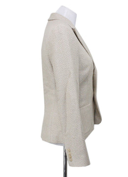 Ralph Lauren Neutral Linen Silk Blazer 1