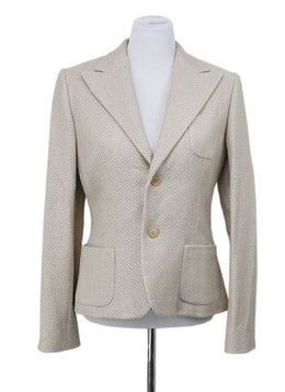 Ralph Lauren Neutral Linen Silk Blazer
