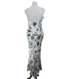 Ralph Lauren White Blue Print Silk Dress 3