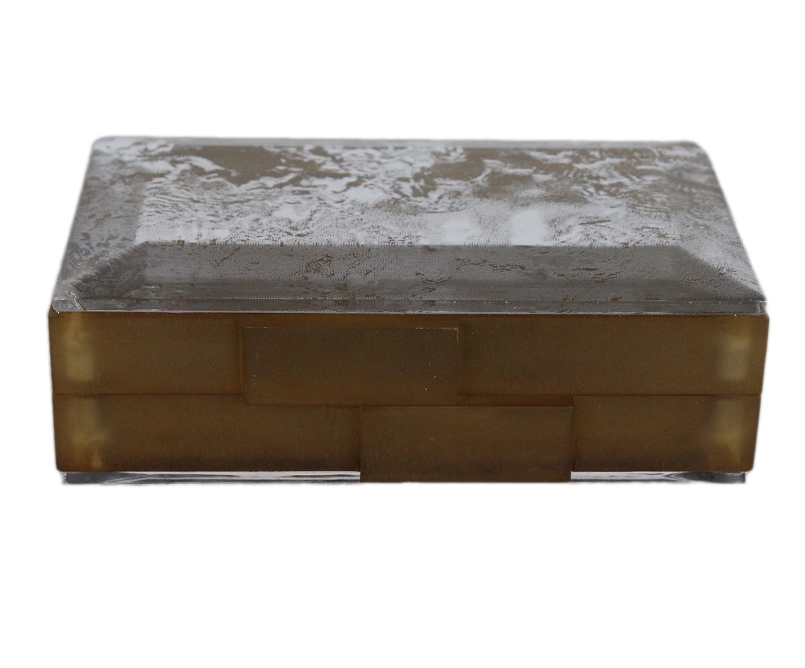 Rauwolf Brown Gold Lucite Clear Clutch 5