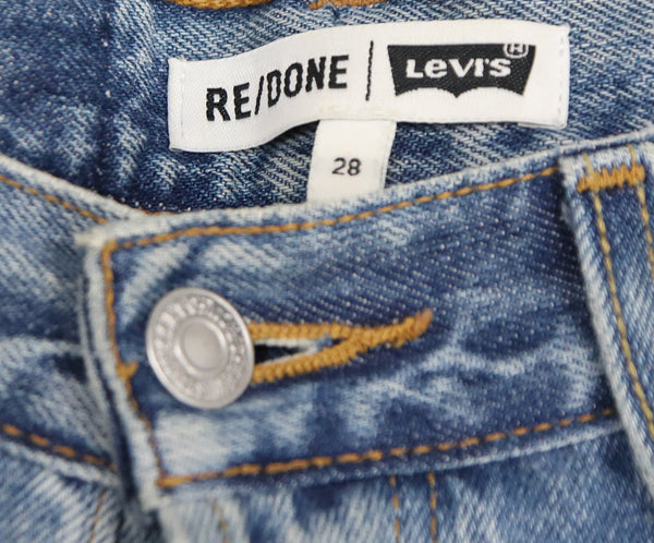Re/Done Blue Denim Pants 3