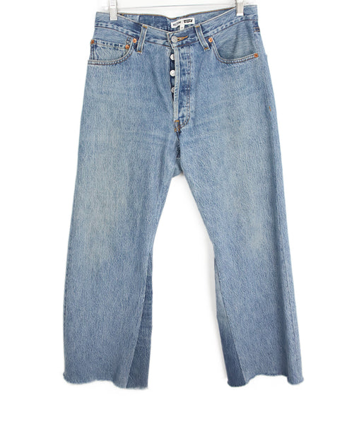 Re/Done Blue Denim Pants 1