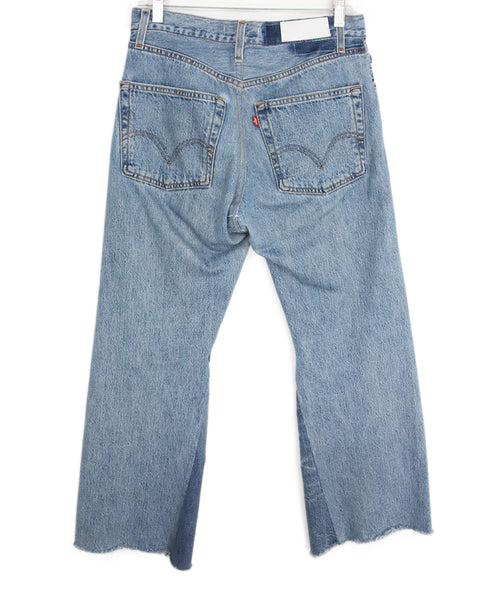 Re/Done Blue Denim Pants 2