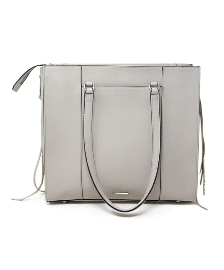 Furla Taupe Pressed Leather Satchel