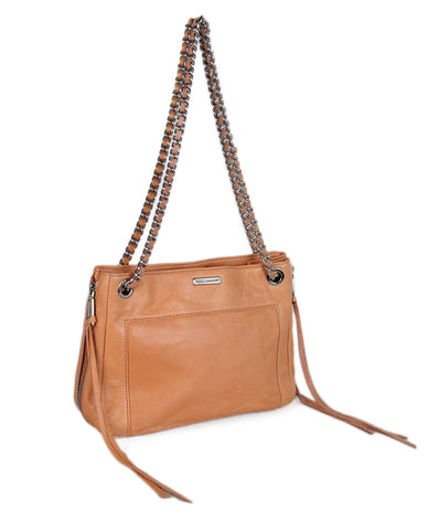 Rebecca Minkoff Orange Coral Leather Handbag 1