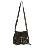 Rebecca Minkoff Black Gold Leather Crossbody 1