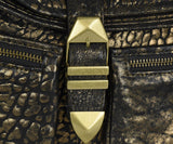 Rebecca Minkoff Black Gold Leather Crossbody 6