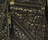Rebecca Minkoff Black Gold Leather Crossbody 7