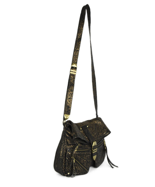 Rebecca Minkoff Black Gold Leather Crossbody 2