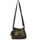 Rebecca Minkoff Black Gold Leather Crossbody 3