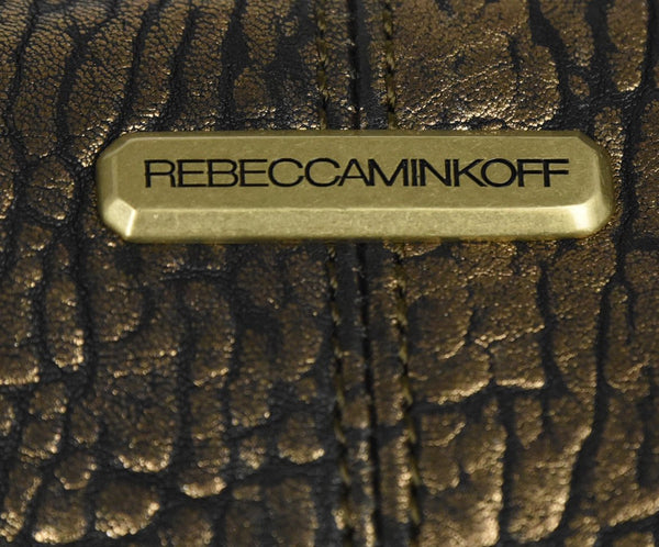 Rebecca Minkoff Black Gold Leather Crossbody 8