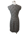 Rebecca Taylor Black White Pink Cotton Tweed Dress 3
