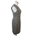 Rebecca Taylor Black White Pink Cotton Tweed Dress 2
