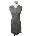 Rebecca Taylor Black White Pink Cotton Tweed Dress 1