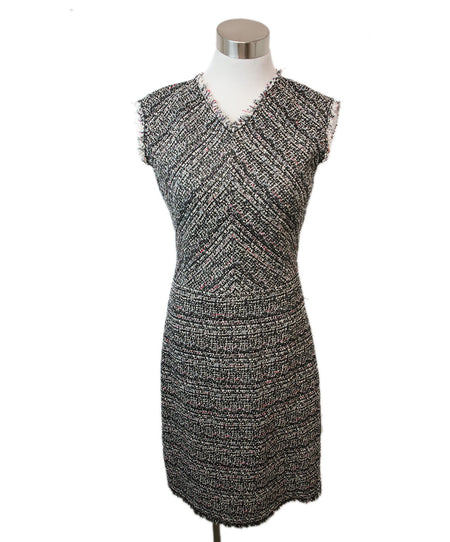 Alice + Olivia Black White Wool Dress, Sz. 4