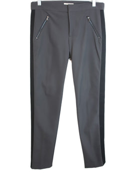 Rebecca Taylor Charcoal Nylon Spandex Black Trim Pants 1