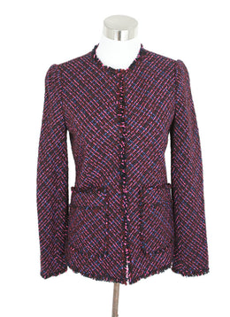 Rebecca Taylor Pink Multi Tweed Jacket 1