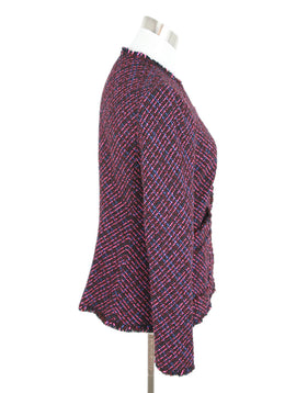 Rebecca Taylor Pink Multi Tweed Jacket 2
